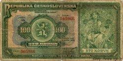 100 Korun TCHÉCOSLOVAQUIE  1920 P.017 B