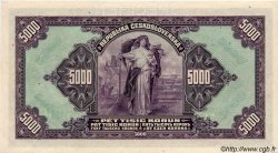5000 Korun TCHÉCOSLOVAQUIE  1920 P.019s SPL