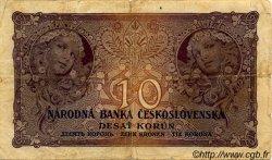 10 Korun TCHÉCOSLOVAQUIE  1927 P.020a pr.TB