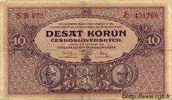 10 Korun TCHÉCOSLOVAQUIE  1927 P.020a TB+