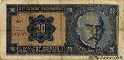 20 Korun TCHÉCOSLOVAQUIE  1926 P.021a B