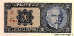 20 Korun TCHÉCOSLOVAQUIE  1926 P.021s NEUF
