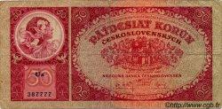 50 Korun TCHÉCOSLOVAQUIE  1929 P.022a B+