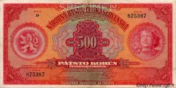 500 Korun TCHÉCOSLOVAQUIE  1929 P.024s SUP+