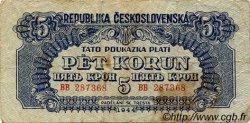 5 Korun TCHÉCOSLOVAQUIE  1944 P.046 TB+