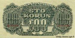 100 Korun TCHÉCOSLOVAQUIE  1944 P.048s SPL+