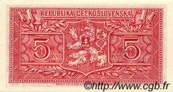 5 Korun TCHÉCOSLOVAQUIE  1945 P.059s NEUF