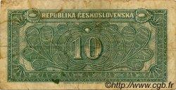 10 Korun TCHÉCOSLOVAQUIE  1945 P.060a B