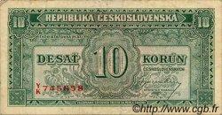 10 Korun TCHÉCOSLOVAQUIE  1945 P.060a TB+