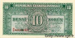 10 Korun TCHÉCOSLOVAQUIE  1945 P.060s NEUF