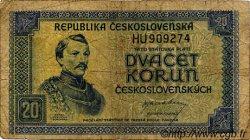 20 Korun TCHÉCOSLOVAQUIE  1945 P.061a B