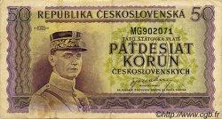 50 Korun TCHÉCOSLOVAQUIE  1945 P.062a TTB