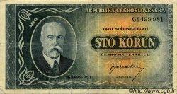100 Korun TCHÉCOSLOVAQUIE  1945 P.063a TB+