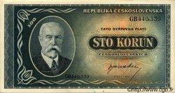 100 Korun TCHÉCOSLOVAQUIE  1945 P.063a SUP+