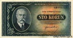 100 Korun TCHÉCOSLOVAQUIE  1945 P.063a SPL