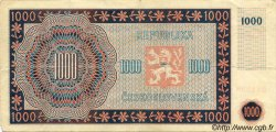 1000 Korun TCHÉCOSLOVAQUIE  1945 P.074a TB+