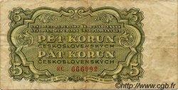 5 Korun TCHÉCOSLOVAQUIE  1953 P.080b TB