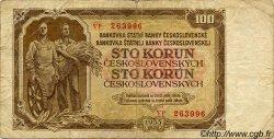 100 Korun TCHÉCOSLOVAQUIE  1953 P.086b TB