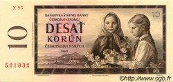 10 Korun TCHÉCOSLOVAQUIE  1960 P.088b SPL