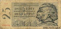 25 Korun TCHÉCOSLOVAQUIE  1961 P.089b B