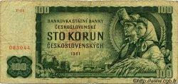 100 Korun TCHÉCOSLOVAQUIE  1961 P.091b B