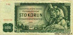 100 Korun TCHÉCOSLOVAQUIE  1961 P.091b TTB