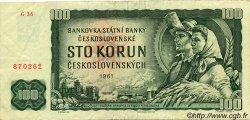 100 Korun TCHÉCOSLOVAQUIE  1961 P.091c TTB+