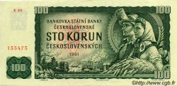 100 Korun TCHÉCOSLOVAQUIE  1961 P.091c SUP+