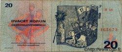 20 Korun TCHÉCOSLOVAQUIE  1970 P.092 TB
