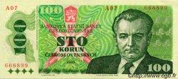 100 Korun TCHÉCOSLOVAQUIE  1989 P.097 SUP