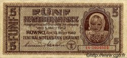 5 Karbowanez UKRAINE  1942 P.051 pr.TTB