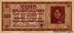 10 Karbowanez UKRAINE  1942 P.052 pr.TB