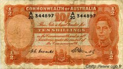 10 Shillings AUSTRALIE  1949 P.25c B à TB