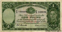 1 Pound AUSTRALIE  1952 P.26d TB+