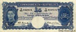 5 Pounds AUSTRALIE  1952 P.27d TTB+