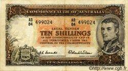 10 Shillings AUSTRALIE  1954 P.29 TTB