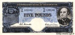5 Pounds AUSTRALIE  1954 P.31 SUP+