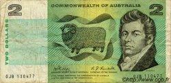 2 Dollars AUSTRALIE  1968 P.38c pr.TB
