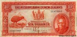 10 Shillings NOUVELLE-ZÉLANDE  1934 P.154 TB+