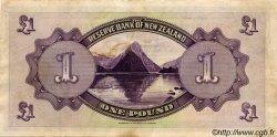 1 Pound NOUVELLE-ZÉLANDE  1934 P.155 TTB+