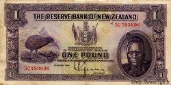 1 Pound NOUVELLE-ZÉLANDE  1934 P.155 TB+