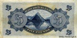 5 Pounds NOUVELLE-ZÉLANDE  1934 P.156 TTB