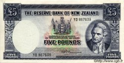 5 Pounds NOUVELLE-ZÉLANDE  1967 P.160d SUP