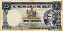 5 Pounds NOUVELLE-ZÉLANDE  1967 P.160d TB