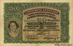 50 Francs SUISSE  1917 P.05c TB