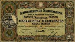 5 Francs SUISSE  1936 P.11h TTB