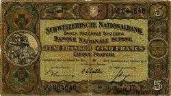5 Francs SUISSE  1936 P.11h B+