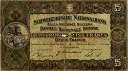 5 Francs SUISSE  1939 P.11i B