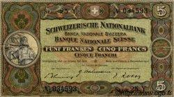 5 Francs SUISSE  1942 P.11j TTB