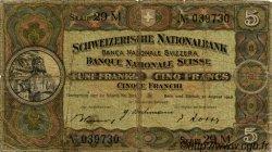 5 Francs SUISSE  1946 P.11l B